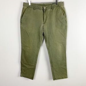 Bonobos 36 olive stretch cotton athletic fit chino